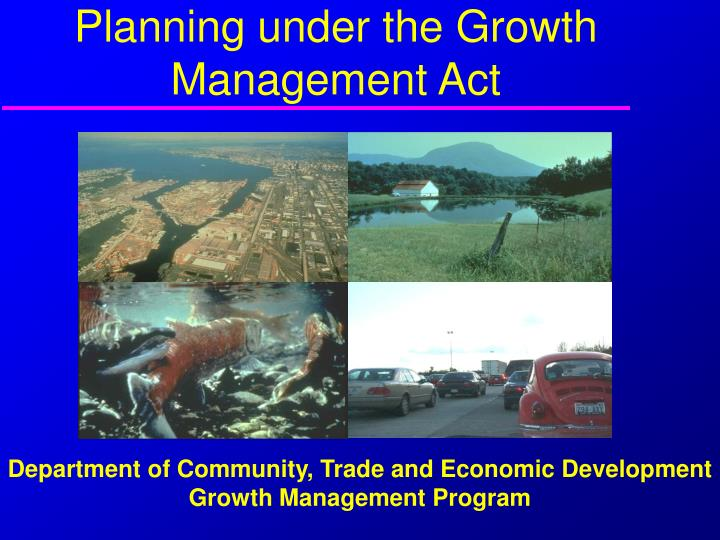 Planning under the growth management act