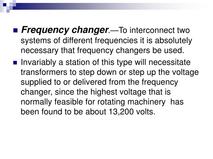 Frequency changer