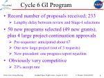 cycle 6 gi program