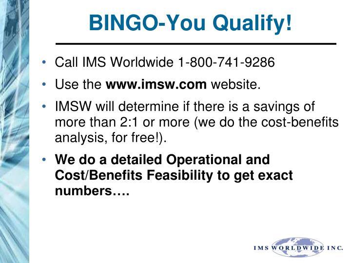 BINGO-You Qualify!