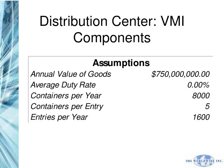Distribution Center: VMI Components