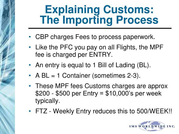Explaining Customs:
