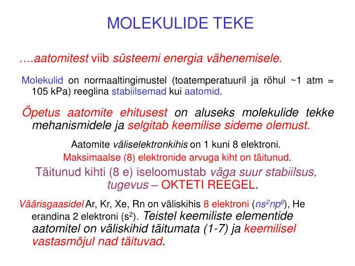 MOLEKULIDE TEKE