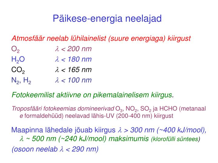 Päikese-energia neelajad