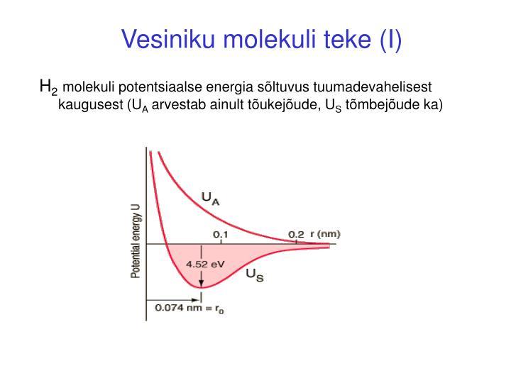 Vesiniku molekuli teke (I)