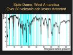 siple dome west antarctica over 60 volcanic ash layers detected