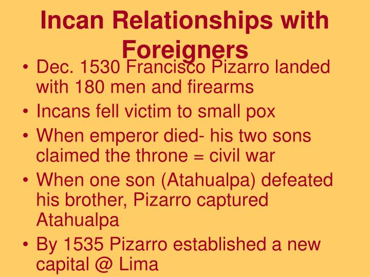 incas and pizarro relationship