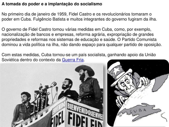 A tomada do poder e a implantação do socialismo