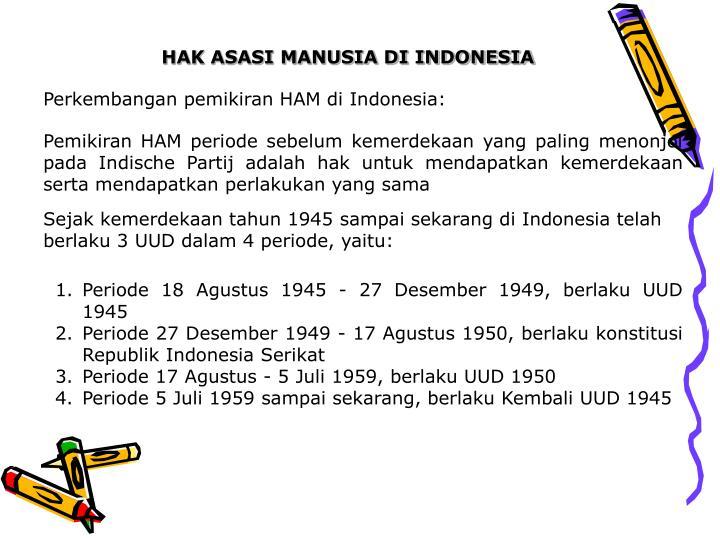 HAK ASASI MANUSIA DI INDONESIA