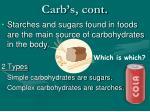 carb s cont