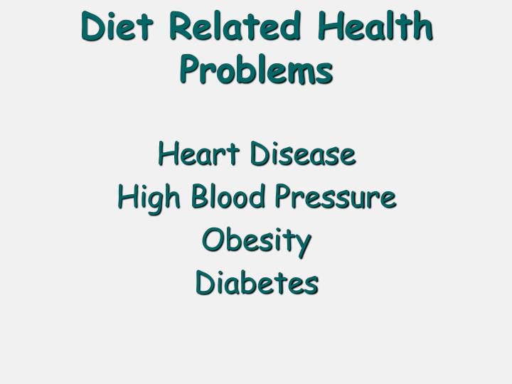 Diet Related Health Problems