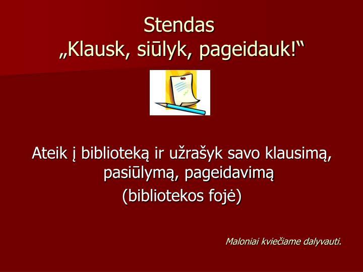 Stendas