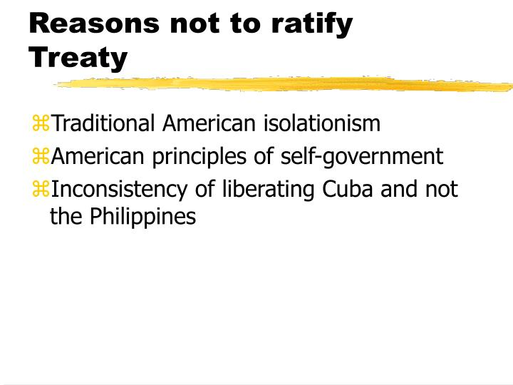 Reasons not to ratify Treaty