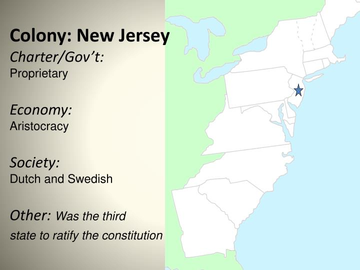 Colony: New Jersey