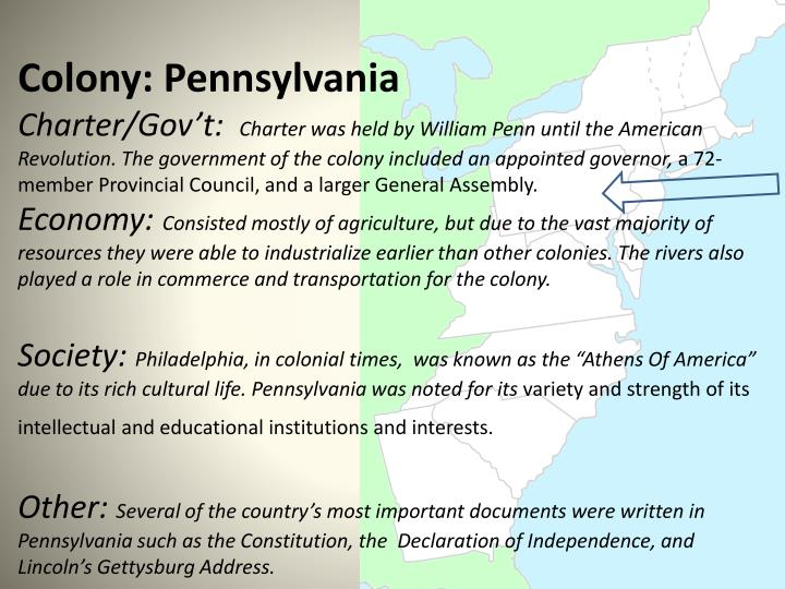 Colony: Pennsylvania