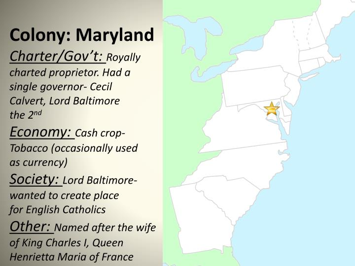 Colony: Maryland
