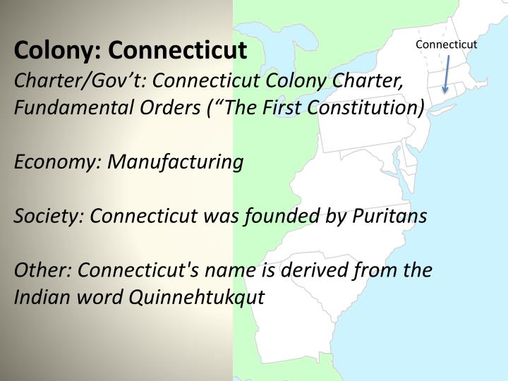 Colony: Connecticut