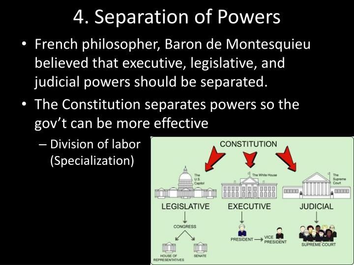 4. Separation of Powers