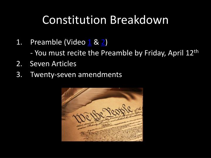 Constitution Breakdown
