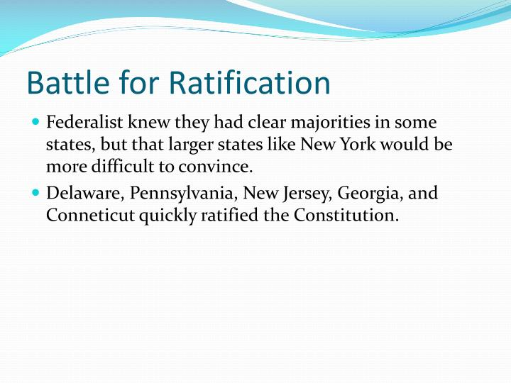 Battle for Ratification