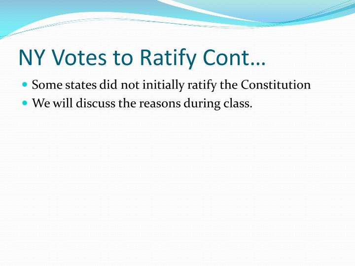 NY Votes to Ratify Cont…