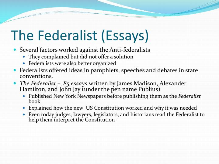 The Federalist (Essays)