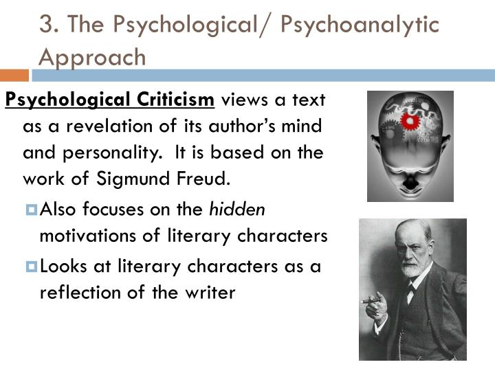 psychoanalytic criticism essay Home literary criticism psychoanalysis analysis frankenstein by mary shelley but psychoanalysis can help us to be just a little easier on him, too.