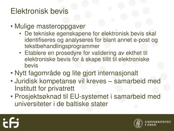 Elektronisk bevis