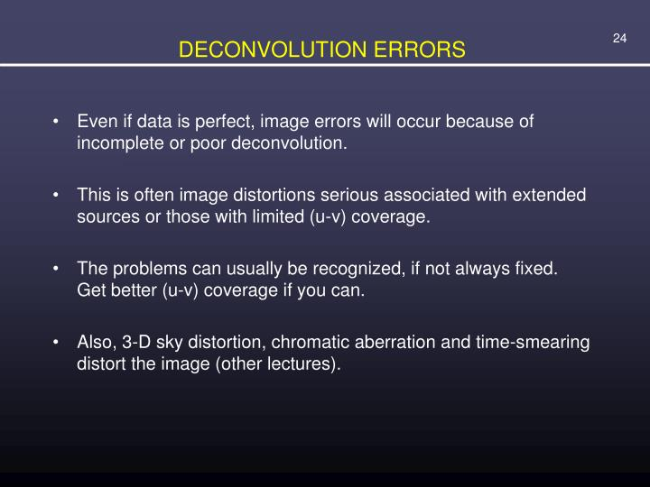 DECONVOLUTION ERRORS