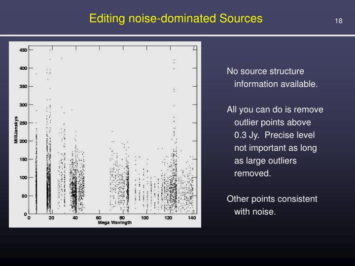 Editing noise-dominated Sources