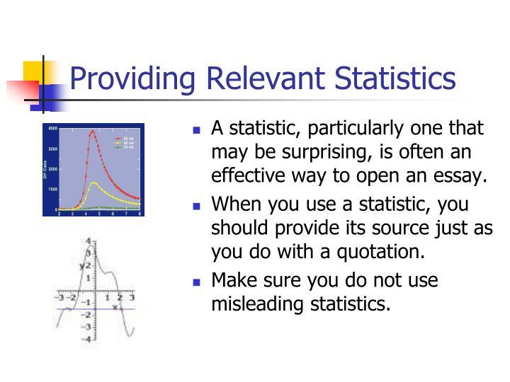 Providing Relevant Statistics