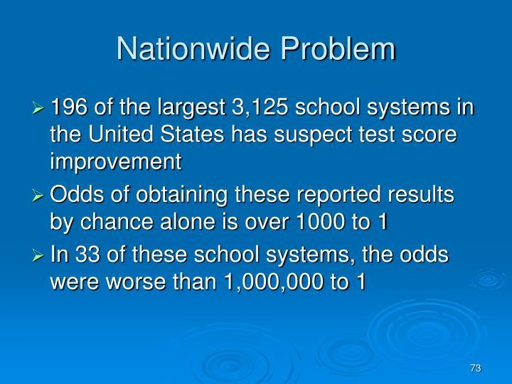 Nationwide Problem