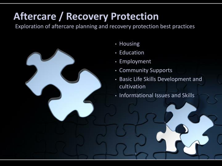 Aftercare / Recovery Protection