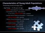 characteristics of young adult populations