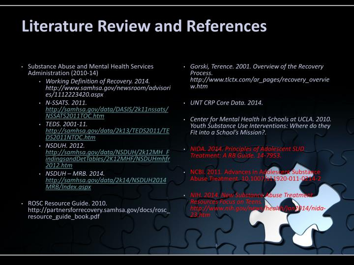 Literature Review and References