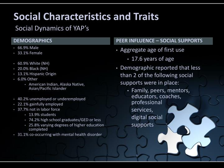 Social Characteristics and Traits