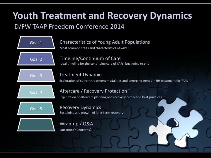 Youth treatment and recovery dynamics
