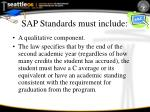 sap standards must include