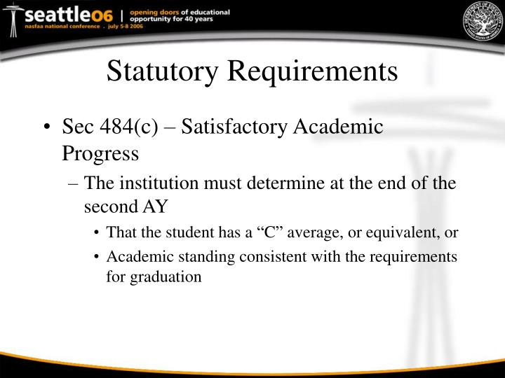 Statutory Requirements