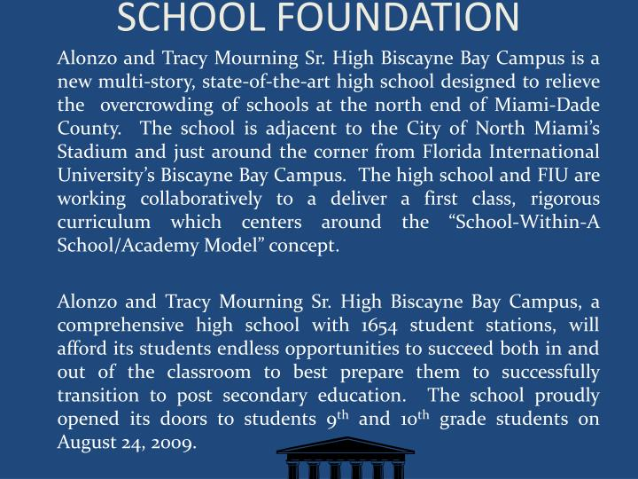 SCHOOL FOUNDATION