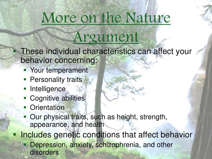 More on the Nature Argument