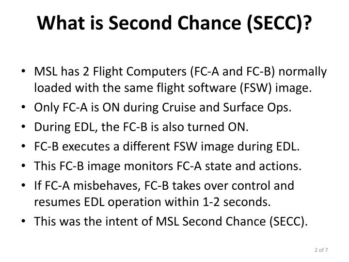 What is Second Chance (SECC)?