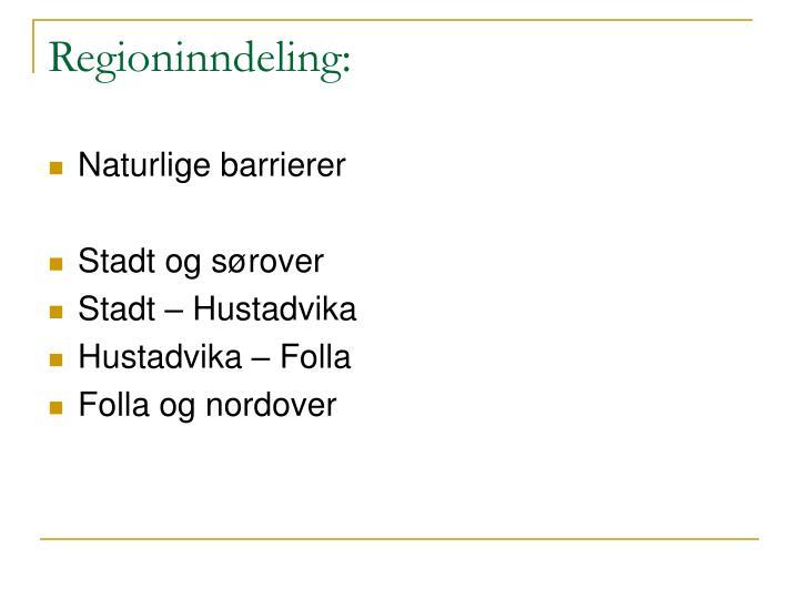 Regioninndeling: