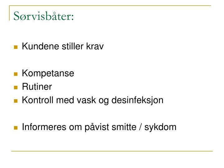 Sørvisbåter: