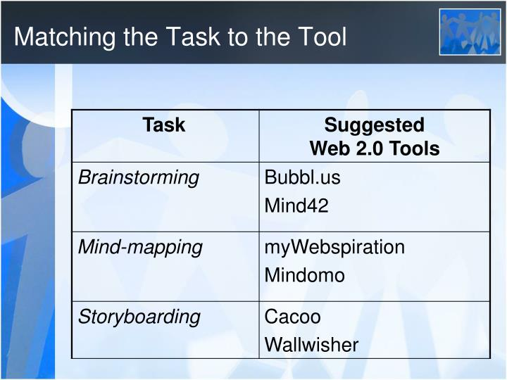 Matching the Task to the Tool