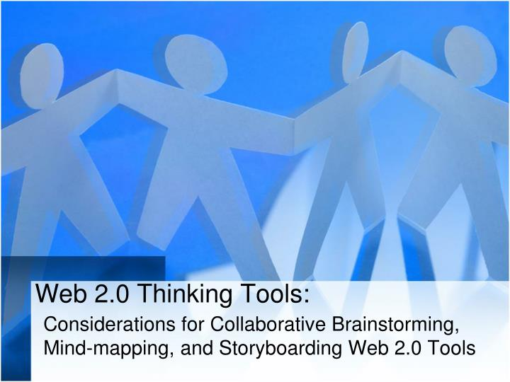 Web 2 0 thinking tools