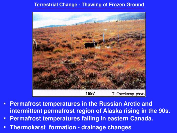 Terrestrial Change - Thawing of Frozen Ground