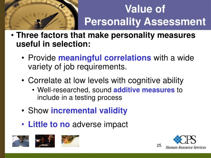 Value of           Personality Assessment