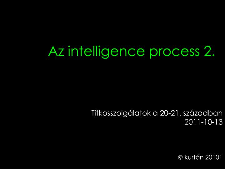 az intelligence process 2