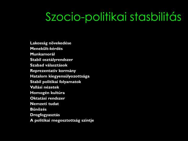 Szocio-politikai stasbilitás